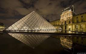 louvre museum at sunset wallpapers museum reflection the louvre landscape wallpapers hd desktop