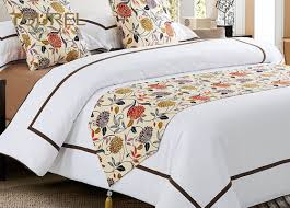 bed runners polyester cushion 100 cotton hotel bed runners white plain bed