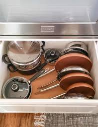 how to organize pots and pans in a cupboard real kitchen pantry organization update polished