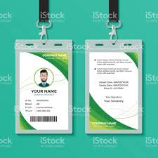 id card graphic design green graphic id card design template stock vector art more images