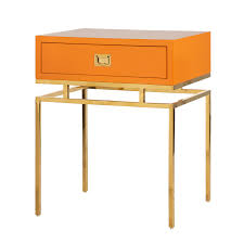 Orange Side Table Brinson Lacquer Side Table Mecox Gardens