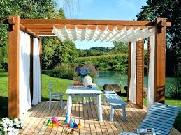 Gazebo Curtains Gazebo Curtains Outdoor With Ideas About Regarding Decor 17