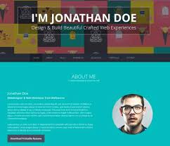 Online Resume Portfolio by Resume Template Website Free One Page Responsive Html Resume