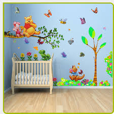 stickers animaux chambre b baby room painting ideas winnie pooh them winnie the pooh wall