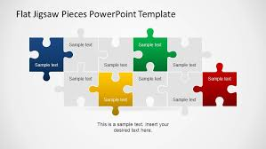 puzzle piece powerpoint template editable flat jigsaw pieces