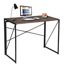 bureau pour ordi bureau pour ordinateur pliable en bois et métal large surface