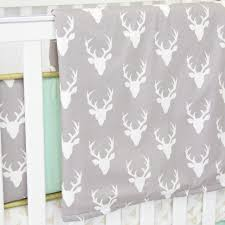 Purple Nursery Curtains by Woodlands Deer Baby Bedding Mint Crib Set Caden Lane