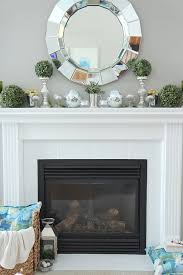 mantel decorating ideas setting for four