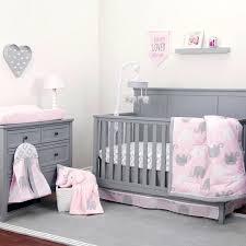 Elephant Bedding For Cribs Pink And White Crib Bedding Elkar Club