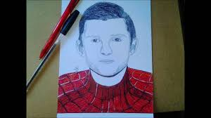 draw spiderman tom holland draw spiderma como
