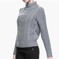 high sweaters plain gray cable knit sweater for high collar sweaters