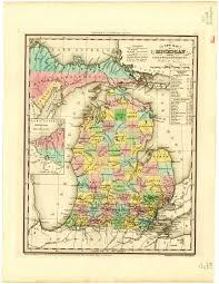 Maps Of Michigan 1842 A New Map Of Michigan Scanned Maps Map Library Msu