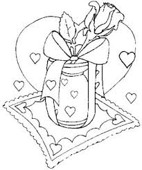rose flower coloring pages letter and rose valentines coloring