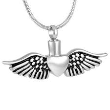 jewelry to hold ashes women s pendants for ashes small heart with angel wing memorial
