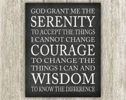 serenity prayer picture frame serenity wall etsy