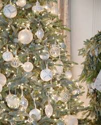 white blue sparkle tree country cottage