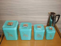 turquoise kitchen canister set specializing in mid century modern