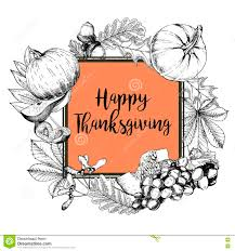 thanksgiving vector art vector square border greeting card for thanksgiving hand drawn