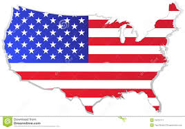 Map Of Red And Blue States by Usa Map With Flag Royalty Free Stock Photography Image 19731777