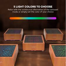 colors of wood furniture amazon com vava essential oil diffuser with real oak wood 8 16