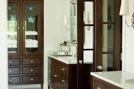 White Bathroom Cabinet With Glass Doors Doors Design Ideas