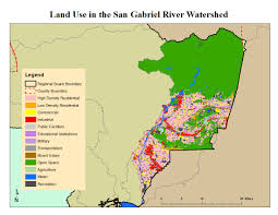 San Gabriel Map San Gabriel River Watershed