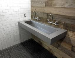 custom floating wall mount concrete sink by trueform concrete