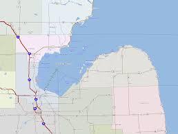Saginaw Michigan Map by Bay Area Major Highways
