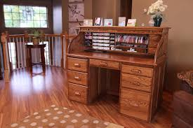 Antique Roll Top Secretary Desk by Stamp N Storage Roll Top Desk Tour Youtube