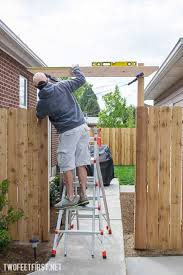How To Build A Simple Pergola by How To Build A Fence Pergola Twofeetfirst