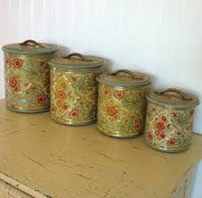 antique kitchen canister sets 60s vintage striped metal kitchen canisters retro canister set