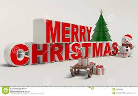 vrolijke kerstmis 3d tekst sneeuwman slee en gift hoge