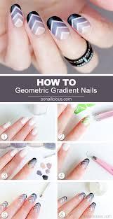 gradient nail art designs step by step glitter nail polish ideas
