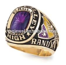 class rings gold images Gold plated college class rings jewelry enamel color buy gold jpg
