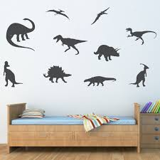 dinosaur decals stephen edward graphics dinosaur silhouette wall decal extra large