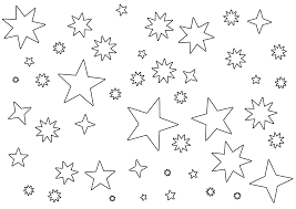 stars coloring page crescent moon with stars coloring page space