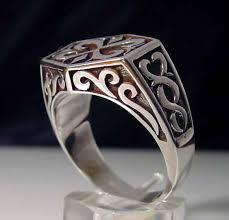 mens celtic rings big joe s biker rings sterling silver men s celtic signet ring r 78s