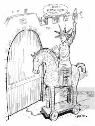 trojan horses cartoons and comics funny pictures from cartoonstock