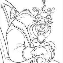 beauty beast coloring pages hellokids