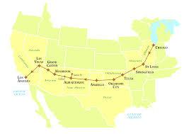 Arizona Road Map Road Trip Route Usa Ambear Me