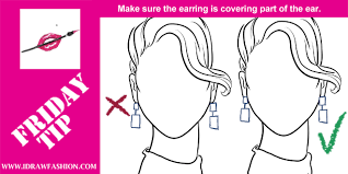 how to draw earings i draw fashion
