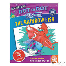 rainbow fish dot dot sticker book