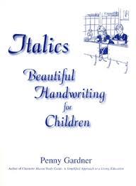 italics beautiful handwriting charlotte mason approach
