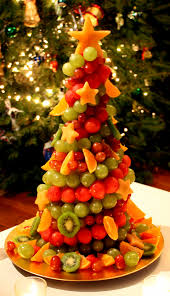fruit christmas tree healthy and pretty happy holidays from