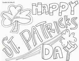 st patricks day coloring pages doodle art alley