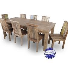 reclaimed teak dining room table reclaimed teak dining set 8 chairs nsa indonesia