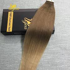 Light Brown Hair Extensions Tape In Real Human Hair Extensions Light Brown To Honey Blonde