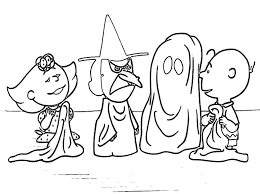 charlie brown halloween coloring pages coloring pages