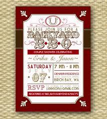 Backyard Bbq Wedding Ideas Backyard Bbq Wedding Shower Invitation Rustic Country Western