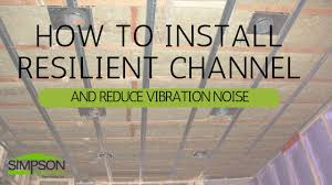 How To Soundproof A Basement Ceiling by How To Install Resilient Channel And Reduce Vibration Noise Youtube